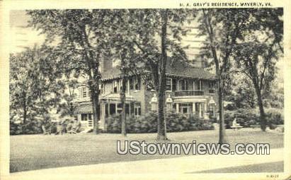 H A Grays Residence  - Waverly, Virginia VA Postcard