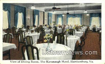 Dining Room  - Harrisonburg, Virginia VA Postcard