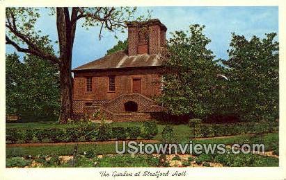 The Garden At Stratford  - Stratford Hall, Virginia VA Postcard