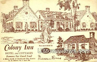 Colony Inn Hotel And Cottages  - Richmond, Virginia VA Postcard