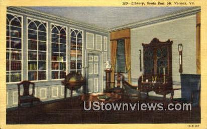 Library South End  - Mount Vernon, Virginia VA Postcard