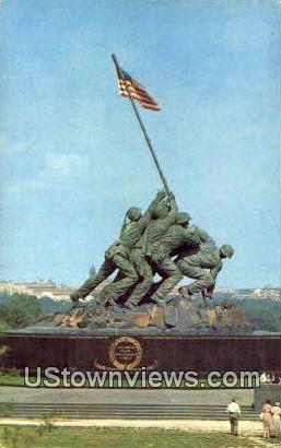 Us Marine Corps War Memroial  - Arlington, Virginia VA Postcard