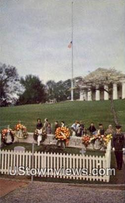 Grave Of Jfk - Arlington National Cemetary, Virginia VA Postcard