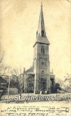 St Pauls Episcopal Church  - Petersburg, Virginia VA Postcard