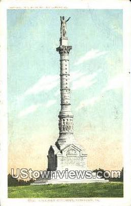Yorktown Monument  - Virginia VA Postcard