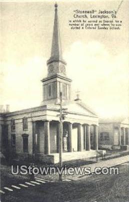 Stonewall Jacksons Church  - Lexington, Virginia VA Postcard