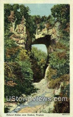 Natural Bridge  - Goshen, Virginia VA Postcard