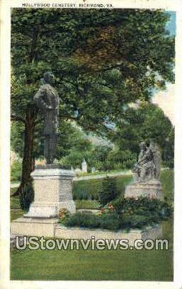 Hollywood Cemetary  - Richmond, Virginia VA Postcard