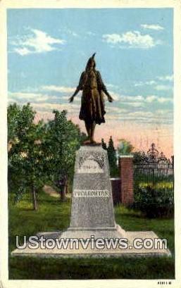 Pocahontas Statue  - Jamestown Island, Virginia VA Postcard