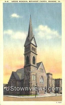 Greene Memorial Methodist Church  - Roanoke, Virginia VA Postcard