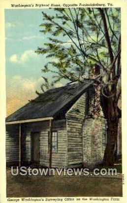 Washingtons Boyhood Home  - Fredericksburg, Virginia VA Postcard