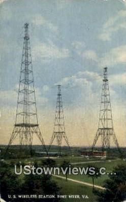 Us Wireless Station  - Fort Myer, Virginia VA Postcard