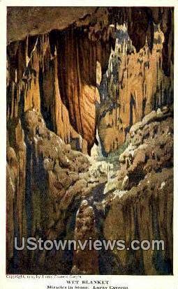 Wet Blanket  - Luray Caverns, Virginia VA Postcard