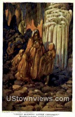 Christ Blessing Little Children  - Luray Caverns, Virginia VA Postcard