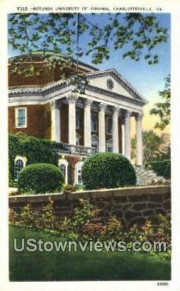 Rotynda University Of Virginia  - Charlottesville Postcard