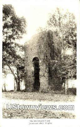 The Old Church Tower  - Jamestown Island, Virginia VA Postcard
