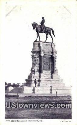 General Lees Monument  - Richmond, Virginia VA Postcard
