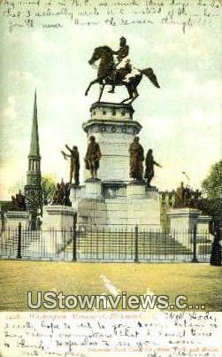Washingtons Monument  - Richmond, Virginia VA Postcard