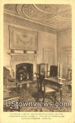 Kemore Library  - Fredericksburg, Virginia VA Postcard