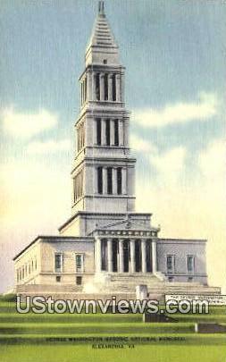 George Washingtons Memorial  - Alexandria, Virginia VA Postcard