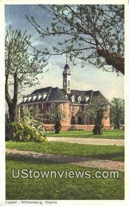 Capitol  - Williamsburg, Virginia VA Postcard