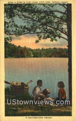 Fairy Stone Park  - Southwestern, Virginia VA Postcard
