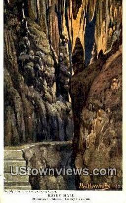 Hovey Hall  - Luray Caverns, Virginia VA Postcard