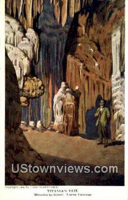 Titanias Veil  - Luray Caverns, Virginia VA Postcard