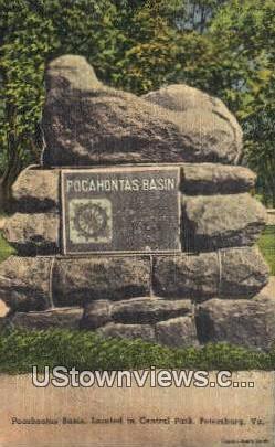 Pocahontas Basin  - Petersburg, Virginia VA Postcard
