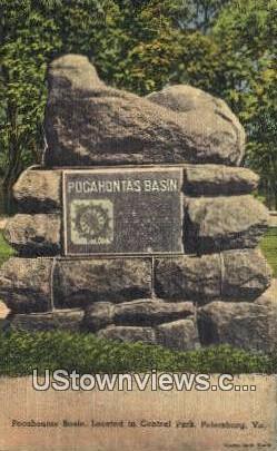 Poncahontas Basin  - Petersburg, Virginia VA Postcard