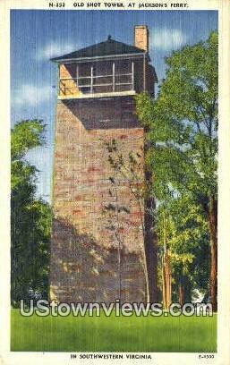 Old Shot Tower Jackson Ferry  - Southwestern, Virginia VA Postcard