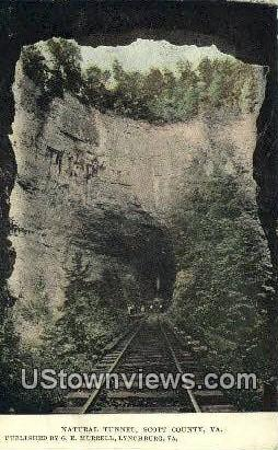 Natural Tunnel  - Scott County, Virginia VA Postcard