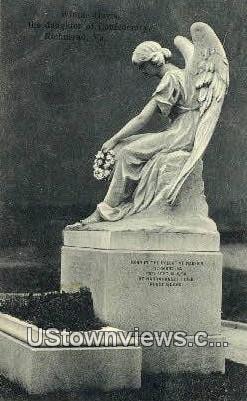 Winnie Davis Monument - Richmond, Virginia VA Postcard