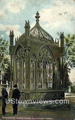 President Monroe's Tomb Cemetary - Richmond, Virginia VA Postcard