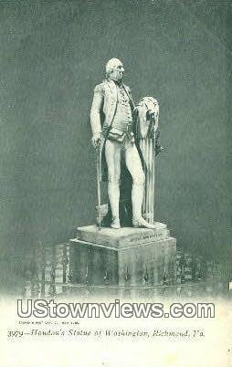 Houdon Statue Of Washington  - Richmond, Virginia VA Postcard