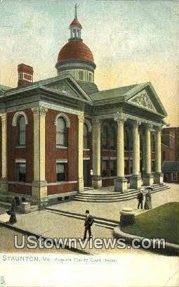 Augusta County Court House  - Staunton Hall, Virginia VA Postcard