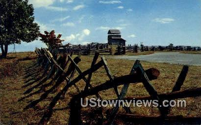 Rail Fences At Grounding Mountain - Blue Ridge Parkway, Virginia VA Postcard