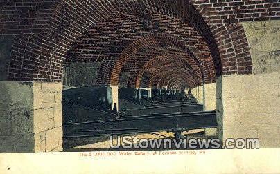 The 100000 Water Battery  - Fortress Monroe, Virginia VA Postcard