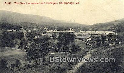 The New Homestead And Cottages  - Hot Springs, Virginia VA Postcard