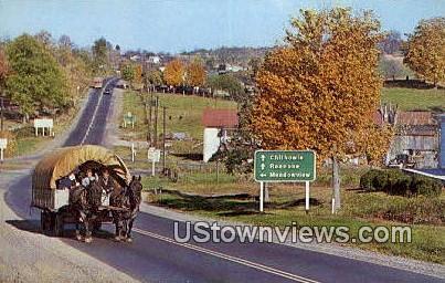 The Last Wagon West  - Providence Forge, Virginia VA Postcard