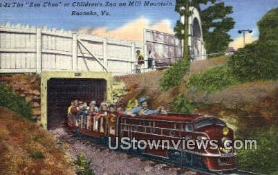 Zoo Choo, Mill Mountain  - Roanoke, Virginia VA Postcard