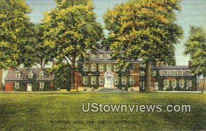Westover Home And Garden  - James River, Virginia VA Postcard