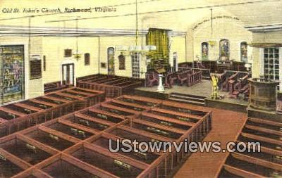 Old St Johns Church  - Richmond, Virginia VA Postcard