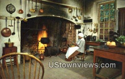 Governors Palace Kitchen  - Williamsburg, Virginia VA Postcard