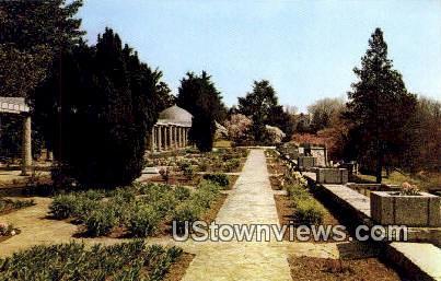 Formal Garden - Maymont, Virginia VA Postcard