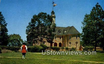 Colonial Captiol  - Williamsburg, Virginia VA Postcard