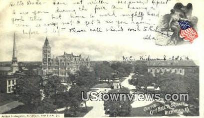 Capitol City Hall And Square  - Richmond, Virginia VA Postcard