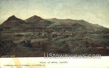 Liberty 1855 - Peaks of Otter, Virginia VA Postcard