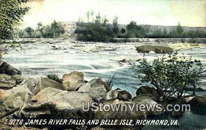 James River Falls & Belle Isle - Richmond, Virginia VA Postcard