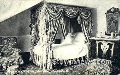 Martha Washingtons Bedroom  - Mount Vernon, Virginia VA Postcard